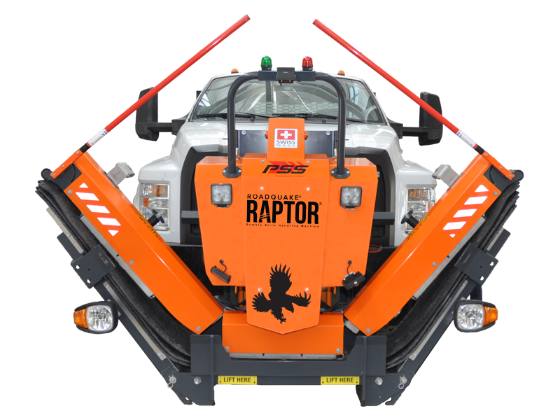 RoadQuake® RAPTOR® Rumble Strip Handling Machine
